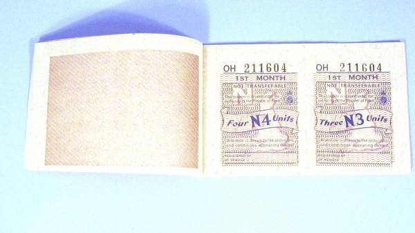 Petrol Ration Coupon