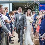 Confetti-being-thrown-on-bride-and-groom-Venue-Weddings-Henley